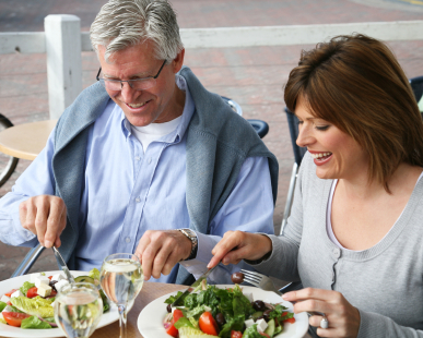 Mature Couple Enjoying a healthy meal