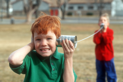 Good communication skills on a can telephone