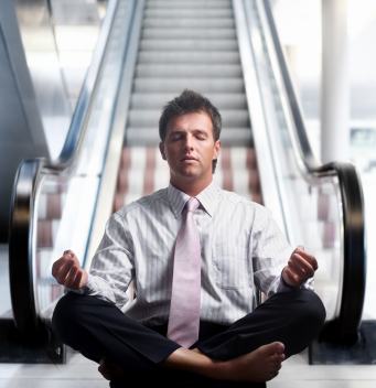 Meditation & Stress - Businessman